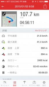 100Kmサイクリング達成